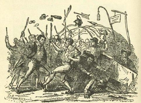 "A 'Fair Fight.' Samuel Lover, from ""The Neighbourhood of Dublin,"" by John Joyce."