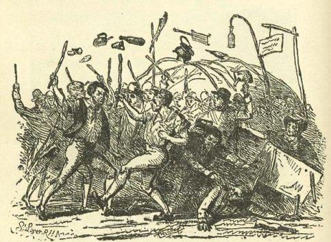 "A 'Fair Fight.' Samuel Lover, from ""The Neighbourhood of Dublin,"" by John Joyce."