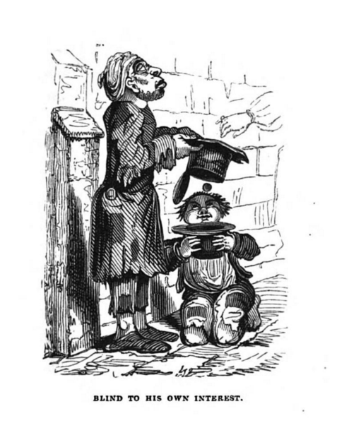 Blind to his own interest hood c a 1833