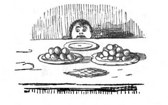 com lat gr dekket bord 1890 John Leech