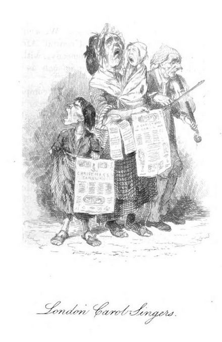 robert seymour London Carol Singers TK Herveys The book of Christamas 1836