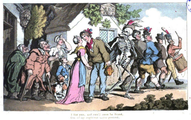 The English Dance of Death, Th. Rowlandson 1815 I list you