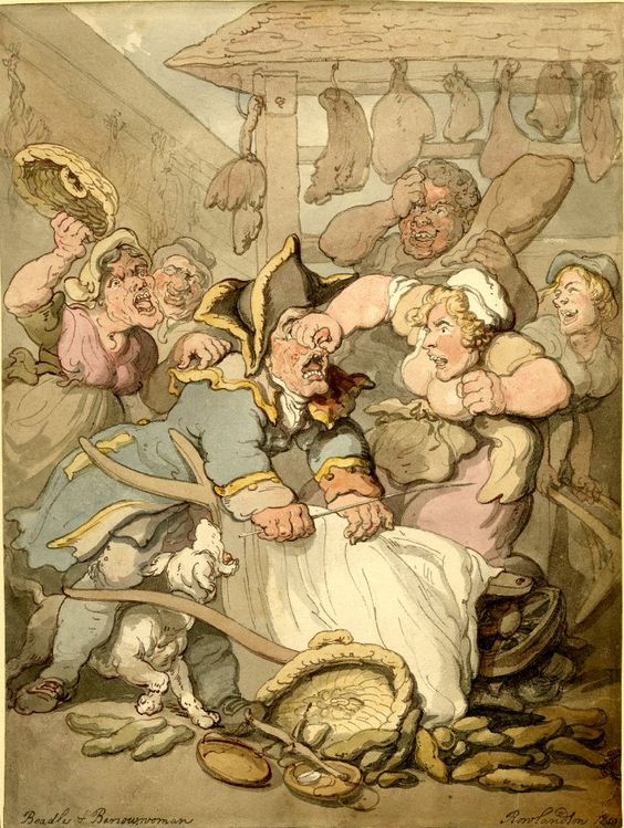 thomas-rowlandson-beadle-and-barrow-women-1819