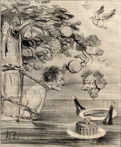 honore-daumier-le-supplice-de-tantale-le-carivari-1842