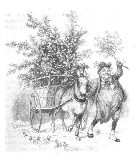 robert-seymour-bringin-christmas-home-tk-herveys-the-book-of-christamas-1836