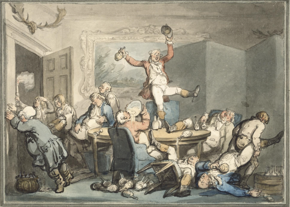 Rowlandson The Hunt Supper ca. 1800