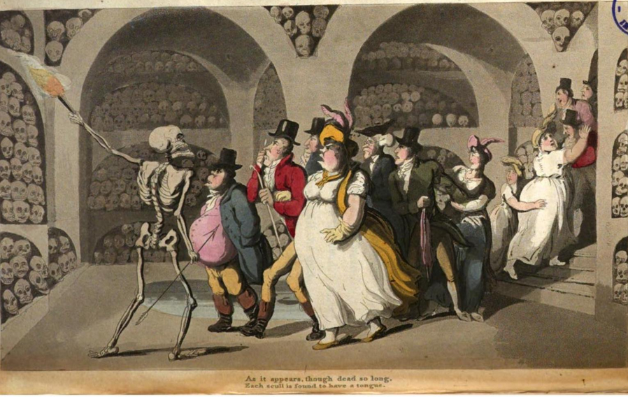 The English Dance of Death, Th. Rowlandson 1815 the vision of skulls