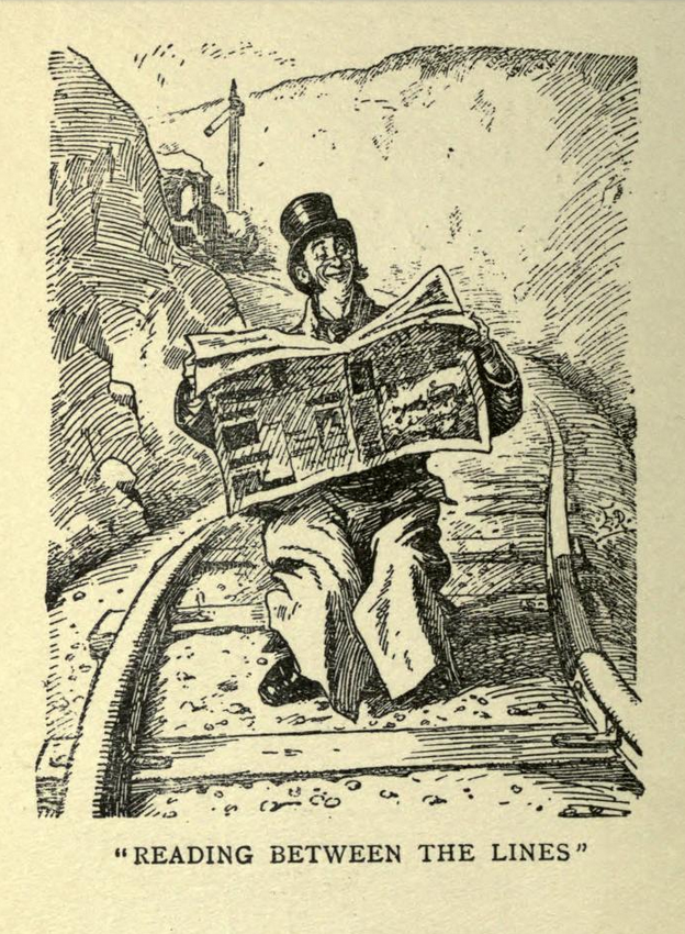 reading b. Mr. Punch's railway book