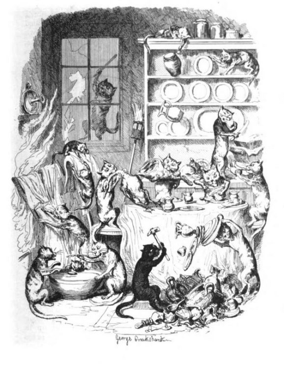 the cat did it cruikshank 1847 the greatest plague of life