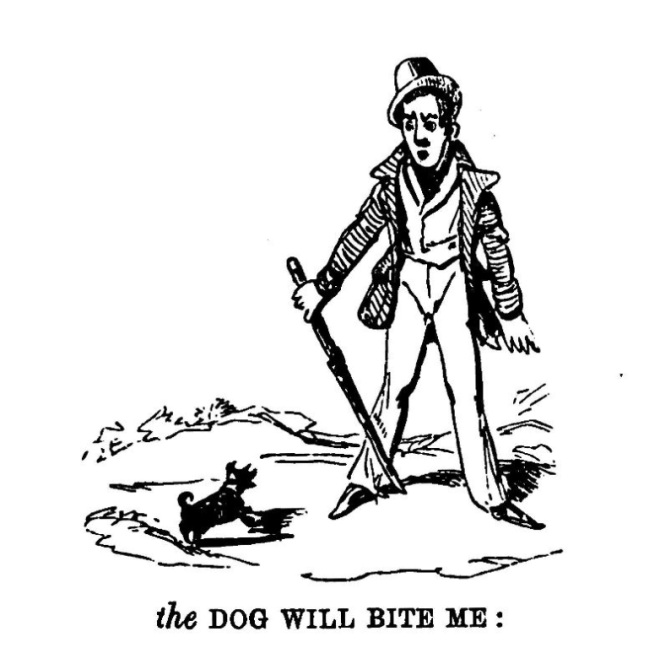 Alfred Crowquill, The Pictorial Grammar 1876 the dog