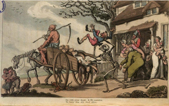 The English Dance of Death, Th. Rowlandson 1815 on with your dead