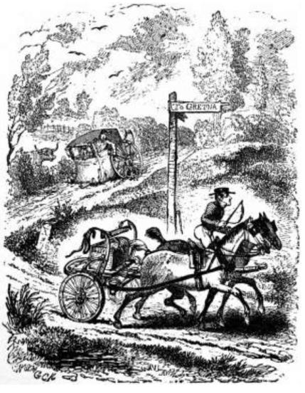 George Cruikshank The Deaf Postilion 1830