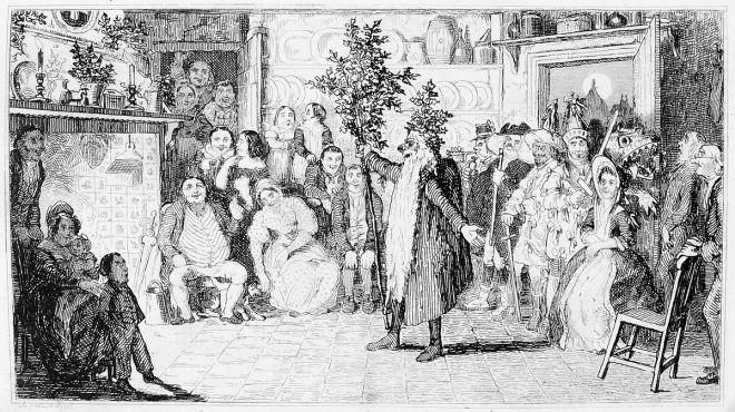 Mummers,_by_Robert_Seymour,_1836