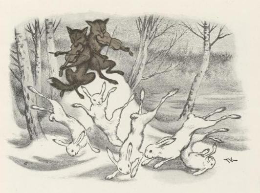 kittelsen haredans (vintereventyr) ca 1900.PNG