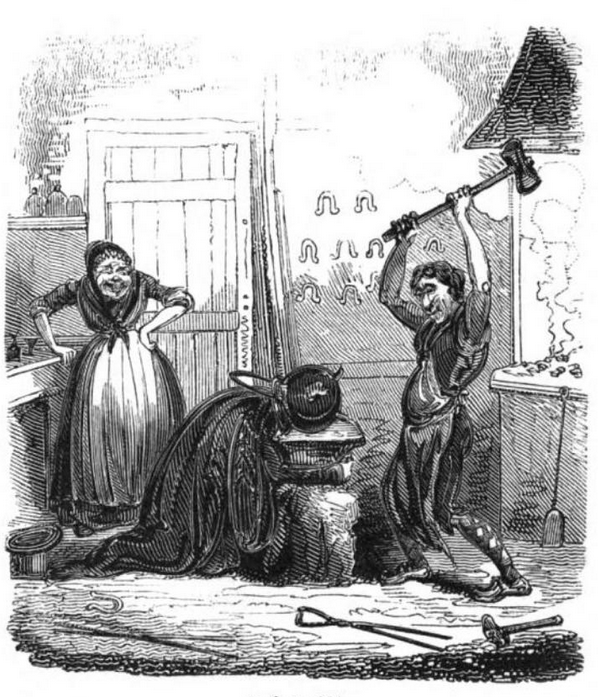 the humorist robert cruikshank 1837 gryte på hodet 2