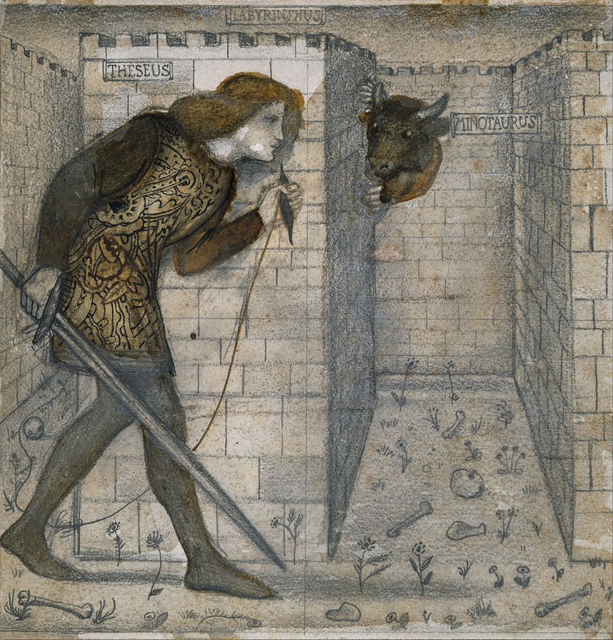 Edward_Burne-Jones_-_Tile_Design_-_Theseus_and_the_Minotaur_in_the_Labyrinth_-_Google_Art_Project